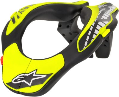 ALPINESTARS YOUTH NECK SUPPORT BLACK/YELLOW ONE SIZE