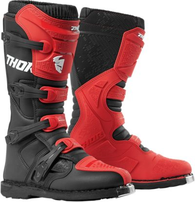 THOR STIEFEL BOOTS BLITZ XP S9 OFFROAD MOTOCROSS ROT/SCHWARZ