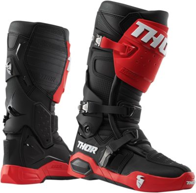 THOR STIEFEL BOOTS RADIAL MOTOCROSS ROT/SCHWARZ
