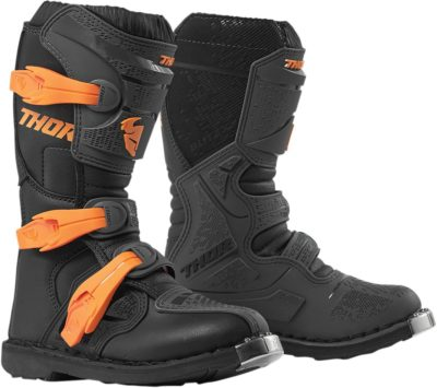 THOR STIEFEL BOOTS BLITZ XP S9Y OFFROAD MOTOCROSS YOUTH KINDER CHARCOAL/ORANGE