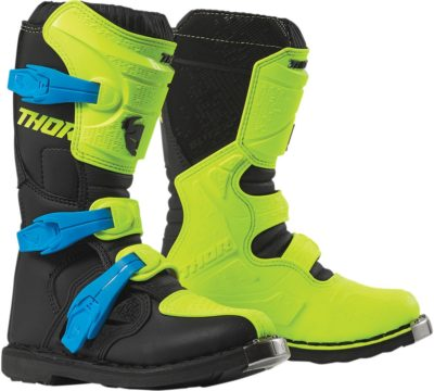 THOR STIEFEL BOOTS BLITZ XP S9Y OFFROAD MOTOCROSS YOUTH KINDER FLO ACID/SCHWARZ