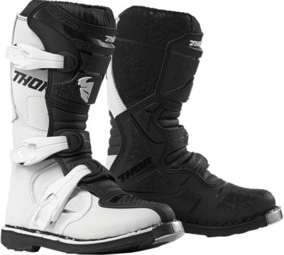 THOR STIEFEL BOOTS BLITZ XP S9Y OFFROAD MOTOCROSS YOUTH KINDER WEISS/SCHWARZ