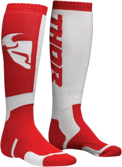 THOR MX S8Y SOCKEN YOUTH KIDS ROT/WEISS