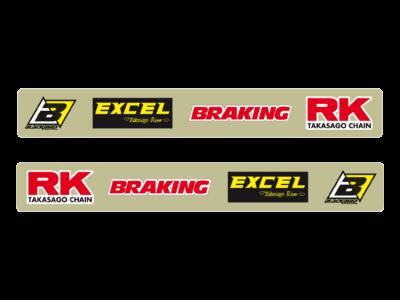 BLACKBIRD SWINGARM STICKERS SCHWINGENAUFKLEBER Kawasaki KX 125 250 KXF 450