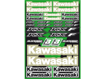 BLACKBIRD UNIVERSAL DECAL KIT DEKOR AUFKLEBER BOGEN KAWASAKI KX KXF 125 250 450