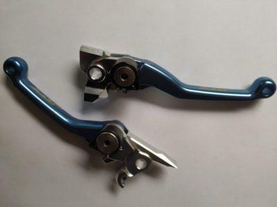 ZAP Competition Klapphebelsatz KTM EXC SXF SX 250 300 450 BREMBO 05-13 helles blau / Sale