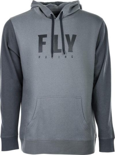 Fly Racing Kapuzenpulli Bagde grau