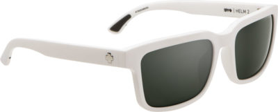 SPY OPTIC Sonnenbrille Helm 2 matte white happy gray green