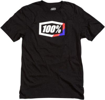 100% TEE STRIPES T-SHIRT SCHWARZ