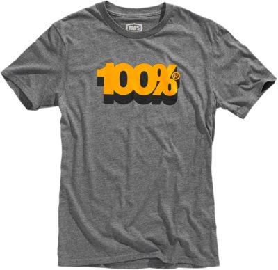 100% TEE VOLTA T-SHIRT HEATHER/GRAU S20