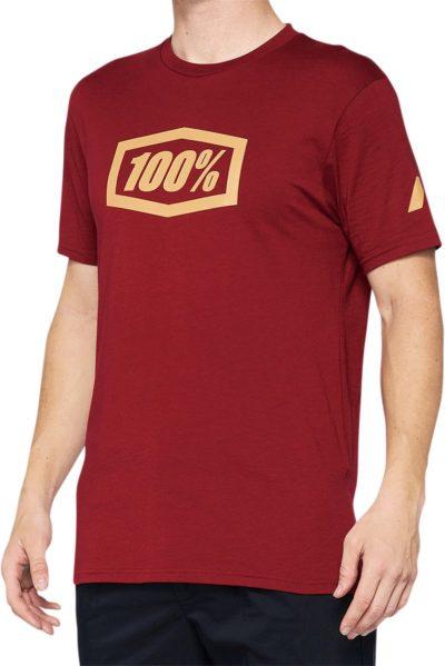 100% TEE ESSENTIAL T-SHIRT BRICK