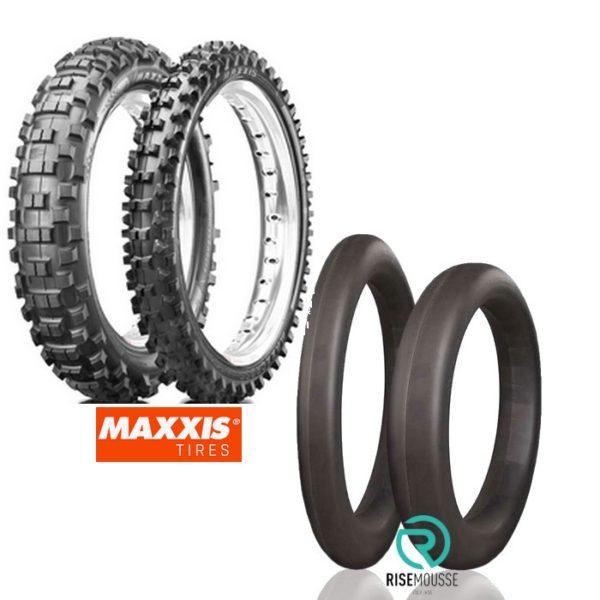 Rise Mousse + Maxxis Reifensatz 7332F 7324 Enduro 90/90-21 140/80-18