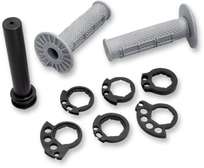 NEKEN THROTTLE TUBE UND GRIFFE GRIPS HALF WAFFLE SFH 26,5 DIAMOND GRAU