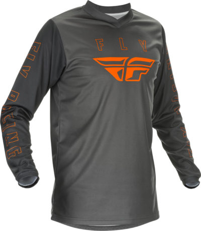 Fly Racing Motocross MX Fahrer Shirt Hemd F-16 grau-orange XL