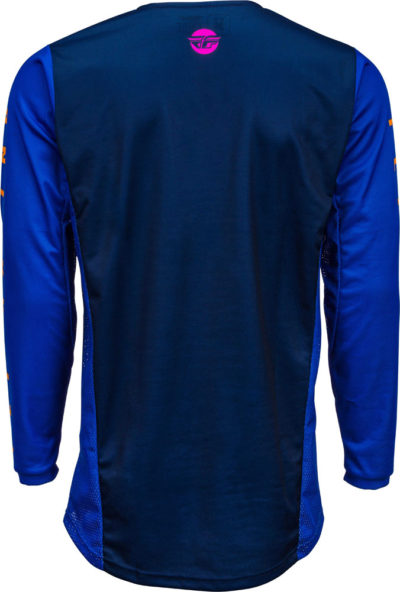 Fly Racing Motocross MX Jersey Hemd Kinetic K220 midnight blau-orange L