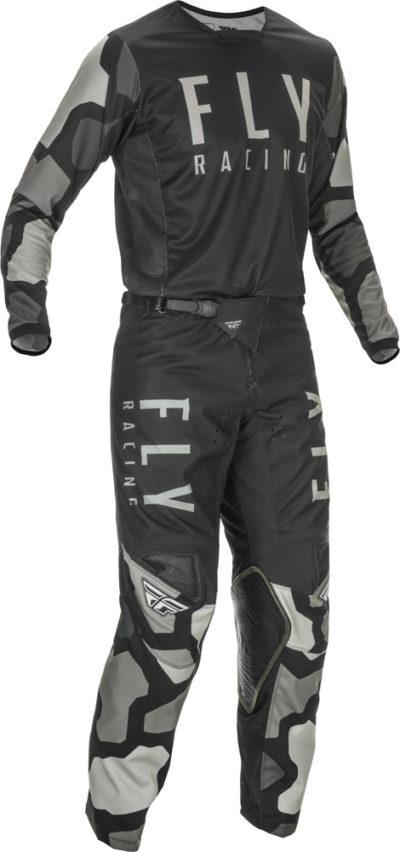 Fly Racing Hose Kinetic K221 Kids schwarz-grau