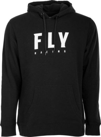 Fly Racing Kapuzenpulli Bagde schwarz