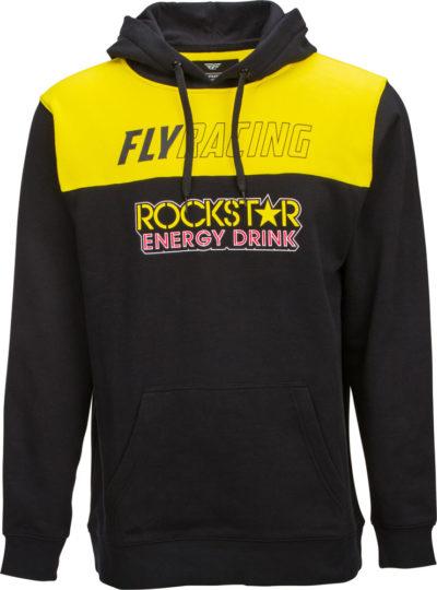 Fly Racing Kapuzenpulli Rockstar schwarz-gelb-rot