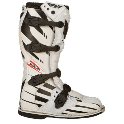 Fly Racing Stiefel Maverik weiß-schwarz