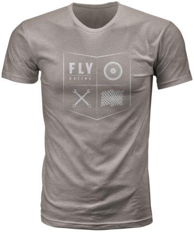 Fly Racing T-Shirt All Things Moto strone grau