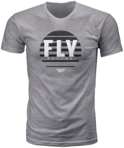 Fly Racing T-Shirt Circle heather dunkelgrau