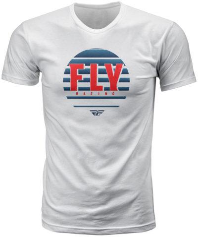 Fly Racing T-Shirt Circle weiß