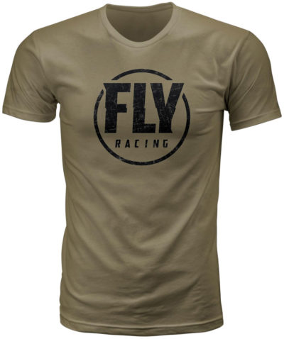 Fly Racing T-Shirt Coaster military grün
