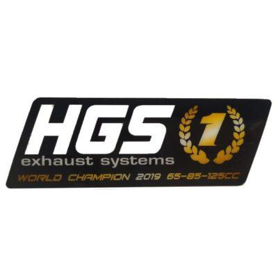 HGS 2 Takt Schalldämpfer Sticker / Black