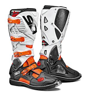 SIDI CROSSFIRE 3 STIEFEL BOOTS Orange Fluor-Black-White
