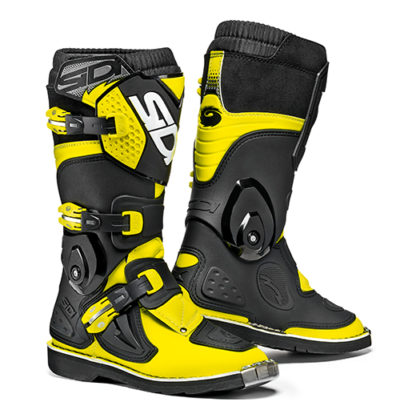 SIDI FLAME STIEFEL BOOTS Black-Yellow Fluo