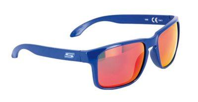 S-LINE Sonnenbrille Sun Glasses blau / 100% UV Pro / rot verspiegelt