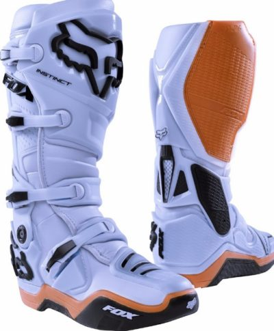 FOX Instinct MX Motocross Stiefel Boots light grey US 9 / EU 42,5