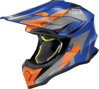 Nolan N53 Helm – Portland blue/orange – M