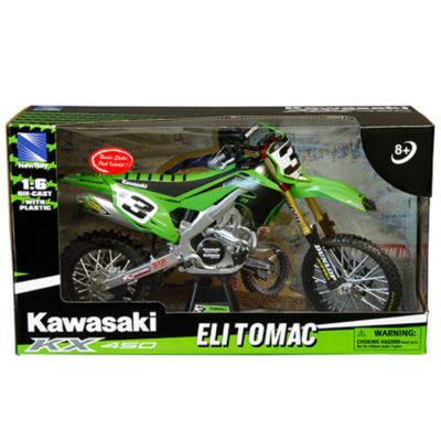 New Ray Modell Spielzeug Motorrad Miniatur Kawasaki KX 450 Eli Tomac 1:12
