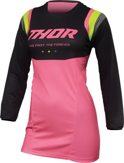 THOR JERSEY WOMEN PULSE REV CHARCOAL/PINK