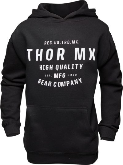 THOR FLEECE YOUTH CRAFTED PULLOVER HOODY SCHWARZ