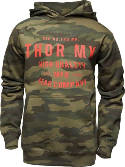 THOR FLEECE YOUTH CRAFTED PULLOVER HOODY CAMO