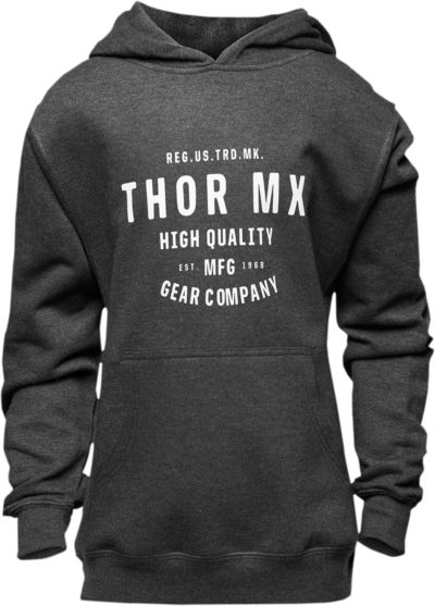 THOR FLEECE GIRLS CRAFTED PULLOVER HOODY CHARCOAL