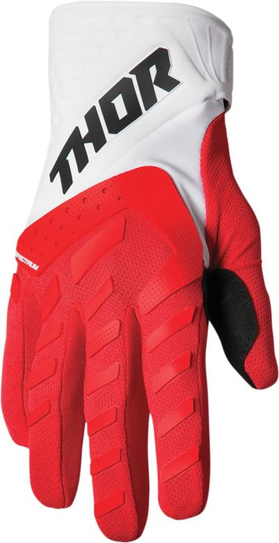 THOR HANDSCHUHE GLOVES YOUTH SPECTRUM ROT/WEISS