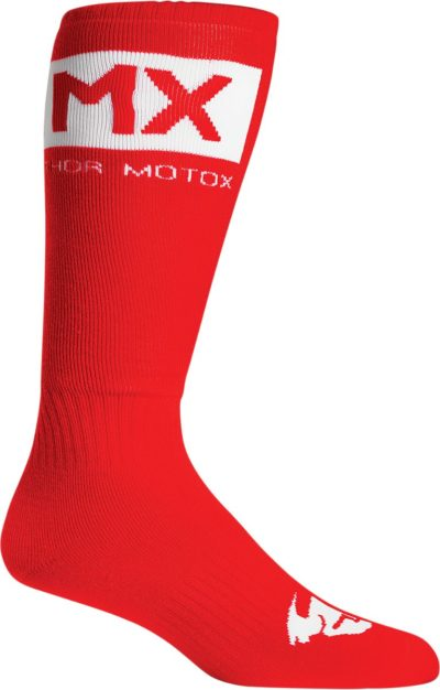 THOR MX SOLID SOCKEN YOUTH KIDS ROT/WEISS